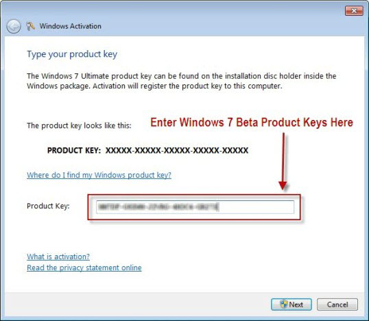 Activating Windows 7 Step 4
